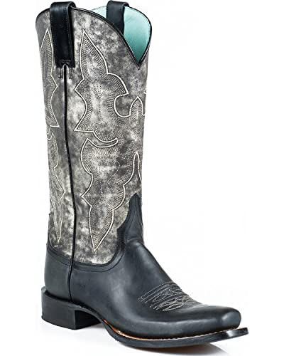 c800771943b Amazon.com | Stetson Women's Rachel Marbled Grey Western Boot Square ...