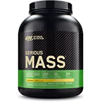 Optimum Nutrition Serious Mass Weight Gainer Protein Powder, Vitamin C, Zinc and Vitamin D for Immune Support, Banana, 6…