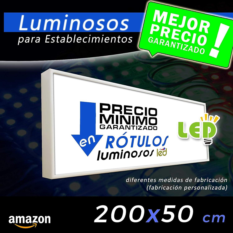 Rótulo Luminoso led 200x50, cajón luminoso para publicidad ...