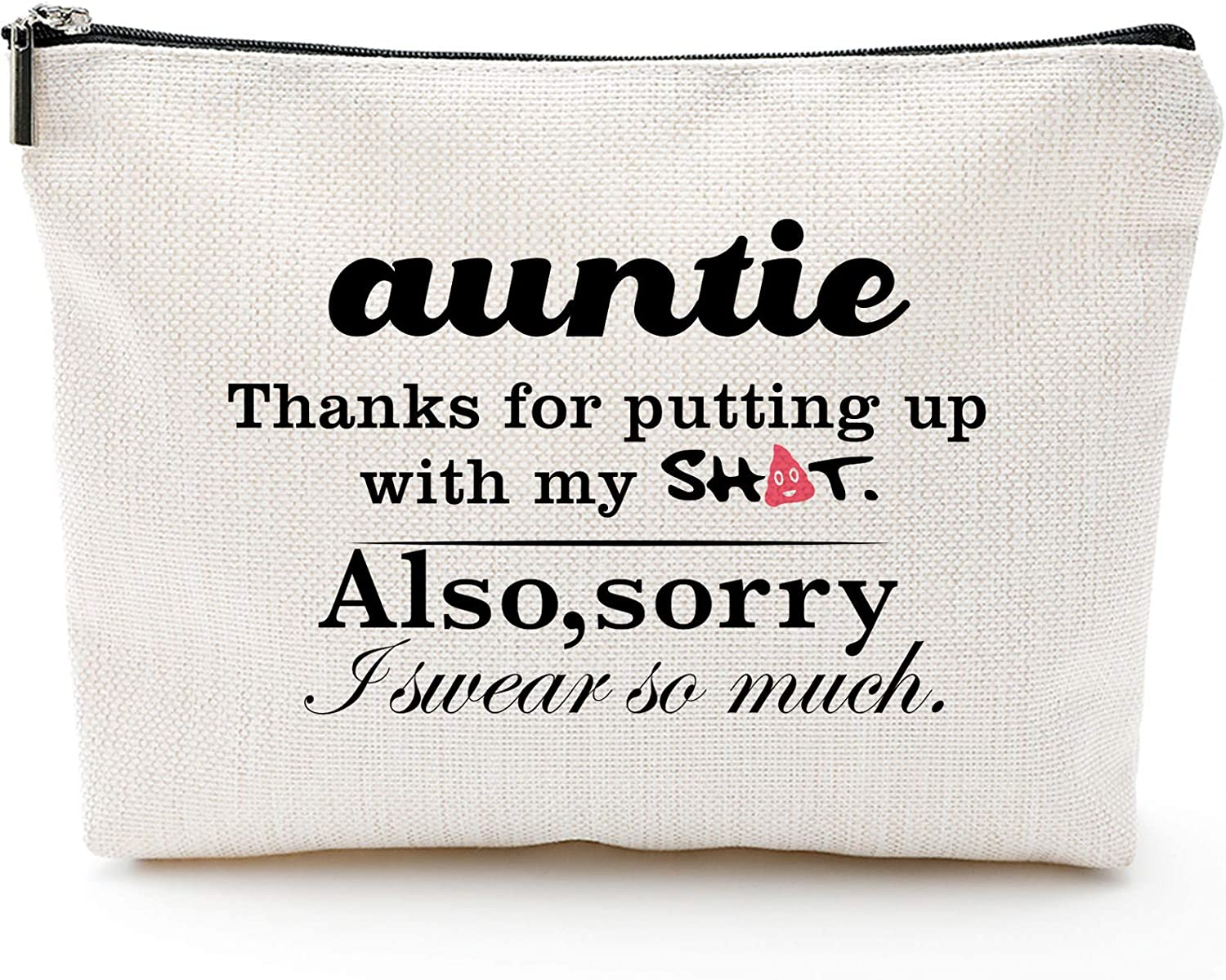 Aunt// Sister Gift Personalised White tote Bag// Best Auntie Ever Books//Shopping