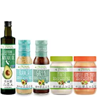 Primal Kitchen Whole 30 Starter Kit Includes Extra Virgin Avocado Oil, Avocado Oil Mayo, and Avocado Oil Dressings (5 count)