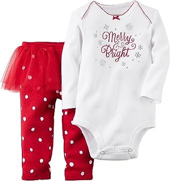 63fba783f Amazon.com: Carter's Baby Girls' Christmas Bodysuit & Tutu Pant Set:  Clothing