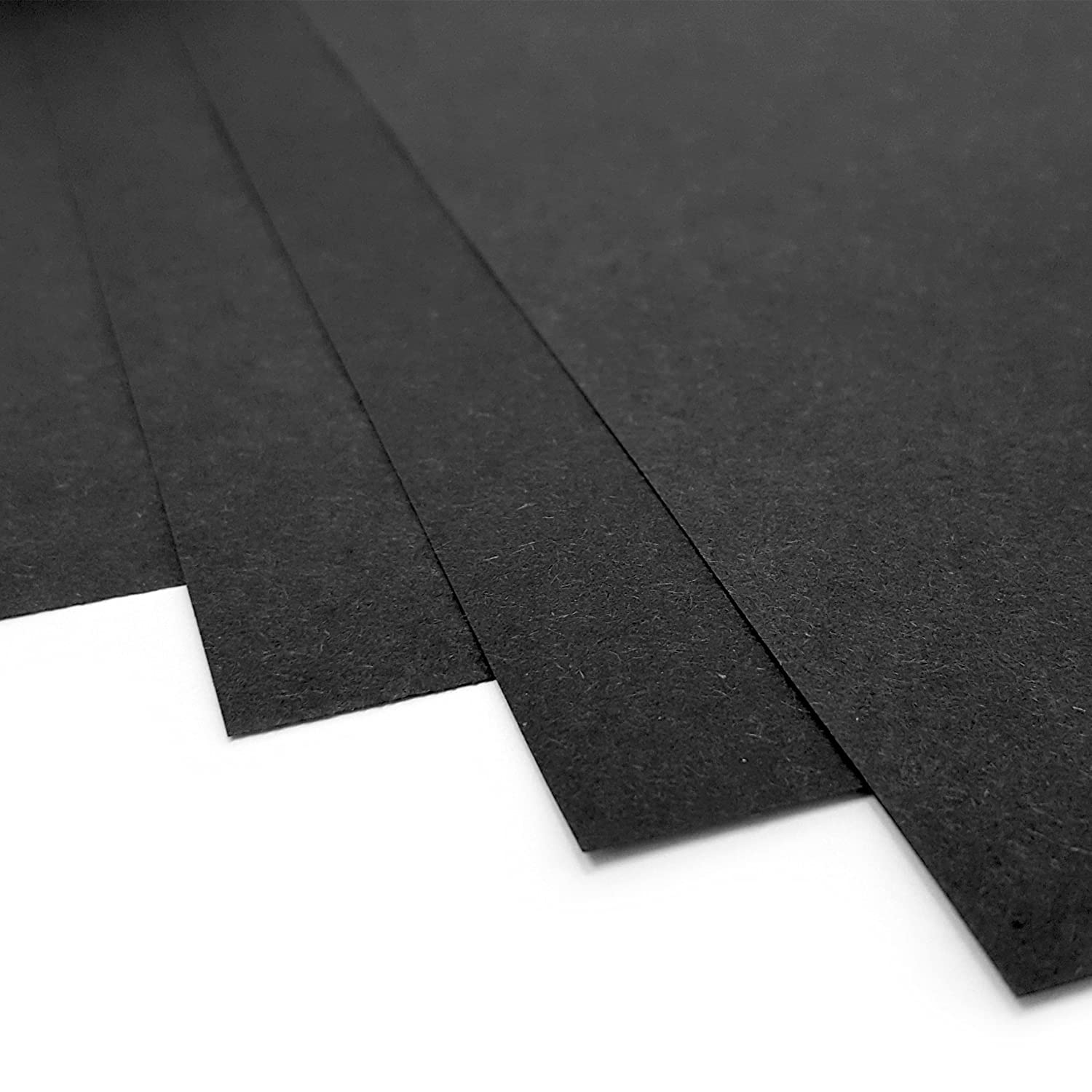 Made in the UK by IVY Stationery 100gsm 50 x Sheets 21004 Black Pages Sugar Paper A3