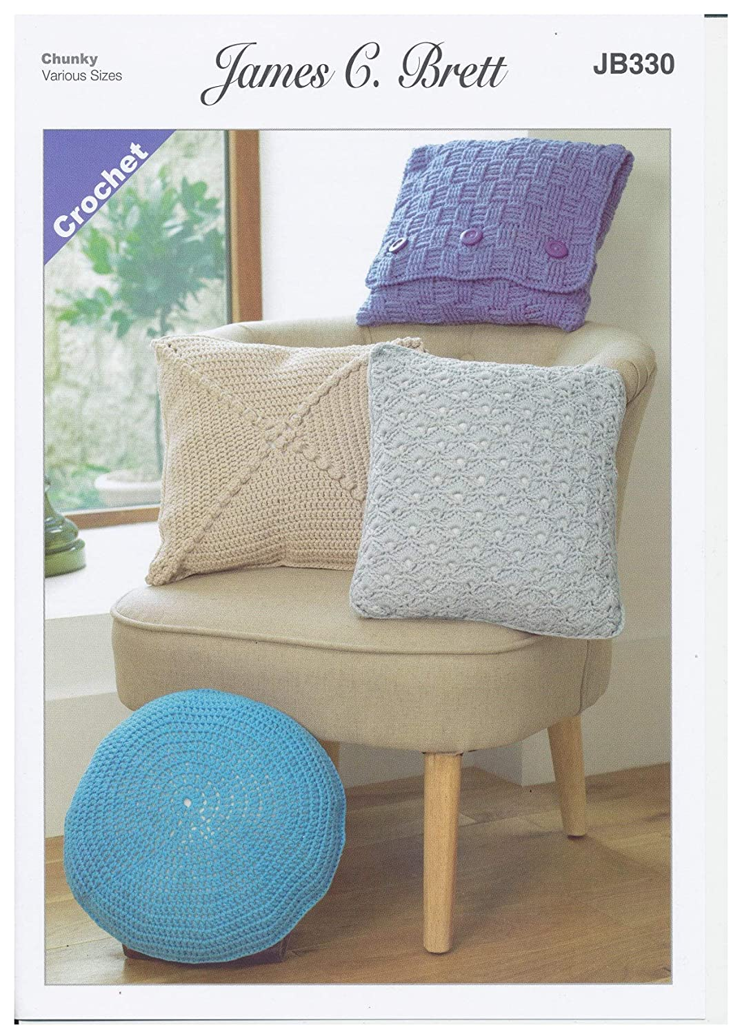 James Brett Various Cushion Covers Chunky Crochet Pattern ...