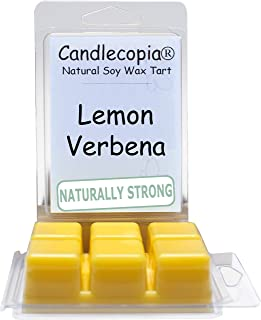 product image for Candlecopia Lemon Verbena Strongly Scented Hand Poured Vegan Wax Melts, 12 Scented Wax Cubes, 6.4 Ounces in 2 x 6-Packs