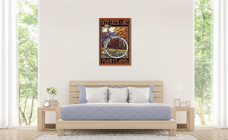 ArtWall Dan Wilsons Oregon-Odell Lake Artmetalz 3-Piece Aluminum Print Artwork 36 by 54-Inch