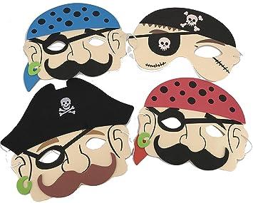 4 musgo de goma Caretas Niños piratas de * para fiestas de ...