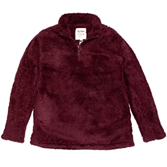 Dylan By True Grit Womens Plush Polar Fleece 1/4 Zip Pullover by Dylan By True Grit