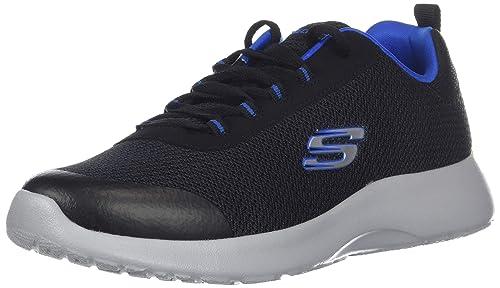 Skechers Kids Boys Dynamight-Turbo Dash Sneaker, Black/Royal, 1 Medium