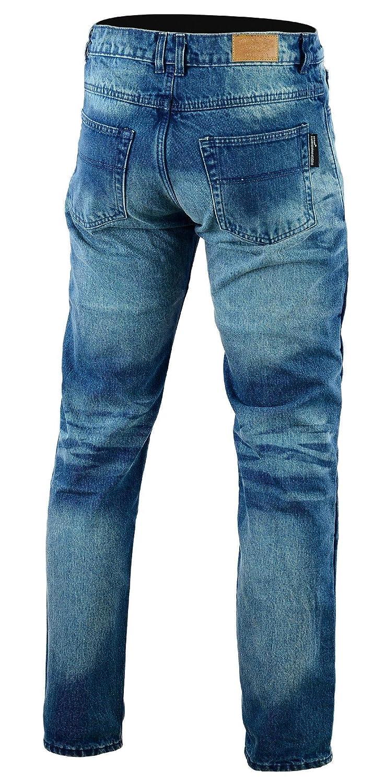 Bikers Gear Australia limitada Kevlar Lined – Pantalones vaqueros para motorista CE protección, Stone Wash Denim, tamaño 36S