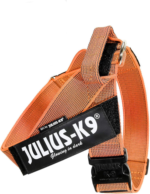 Julius-K9 Color & Gray Arnés de Correa de IDC, Tamaño: 3, Naranja-Gris