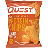 Quest Nutrition Tortilla Style Protein Chips, Low Carb, Nacho Cheese 1.1 Ounce (Pack of 12)