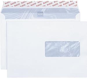Enveloppe A4 Blanche C4 229x324 90g Fenêtre 50 Bande Siliconnée