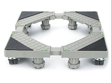 Base ajustable móvil multifuncional Casaya con 8 ruedas giratorias de goma con bloqueo y