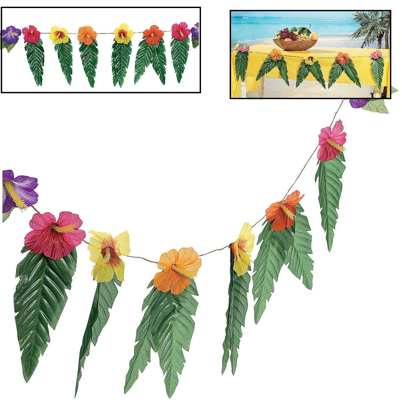Amazon hawaiian luau garland with flowers and green leaves 72 amazon hawaiian luau garland with flowers and green leaves 72 toys games izmirmasajfo