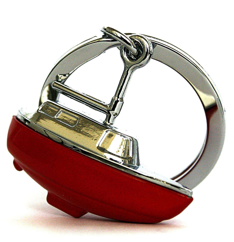 Metalmorphose Keychain Sailing Boat/Yacht Red 3D Charm with Beautiful Chrome Keyring. MTM-Gifts HK Ltd. MTM052