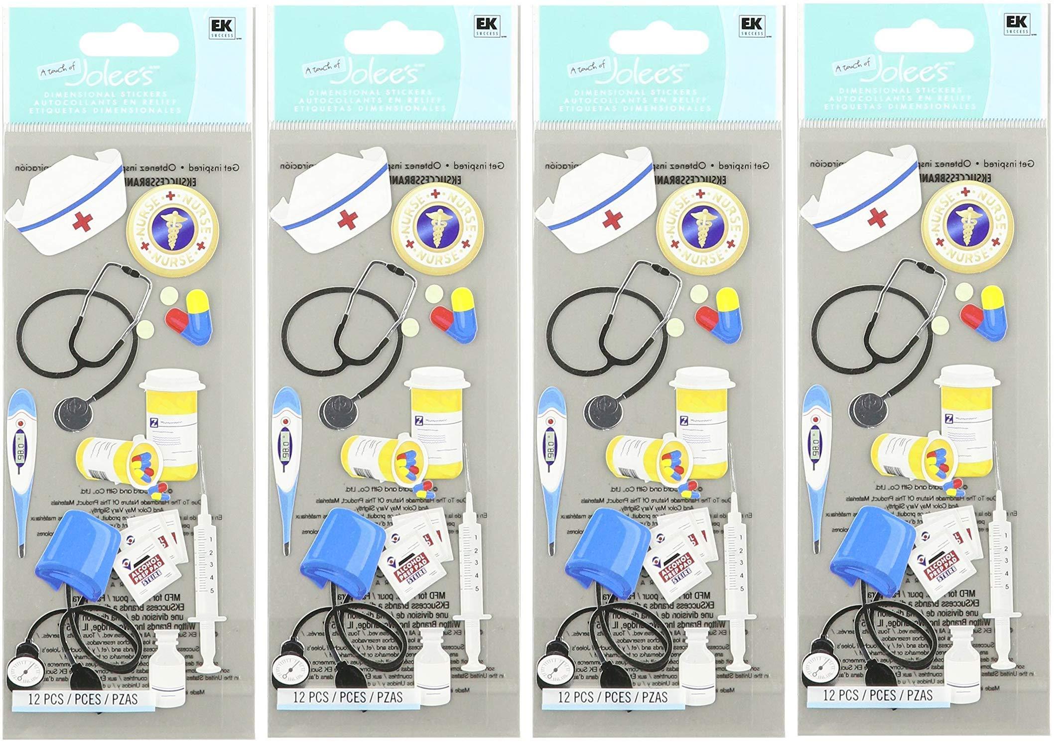 Jolee's Boutique 50-10026 Sticker 3D Nurse Accessories, Multicolor (Fоur Paсk)