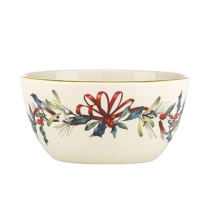 Amazon lenox winter greetings bowl ivory kitchen dining lenox winter greetings bowlivory m4hsunfo