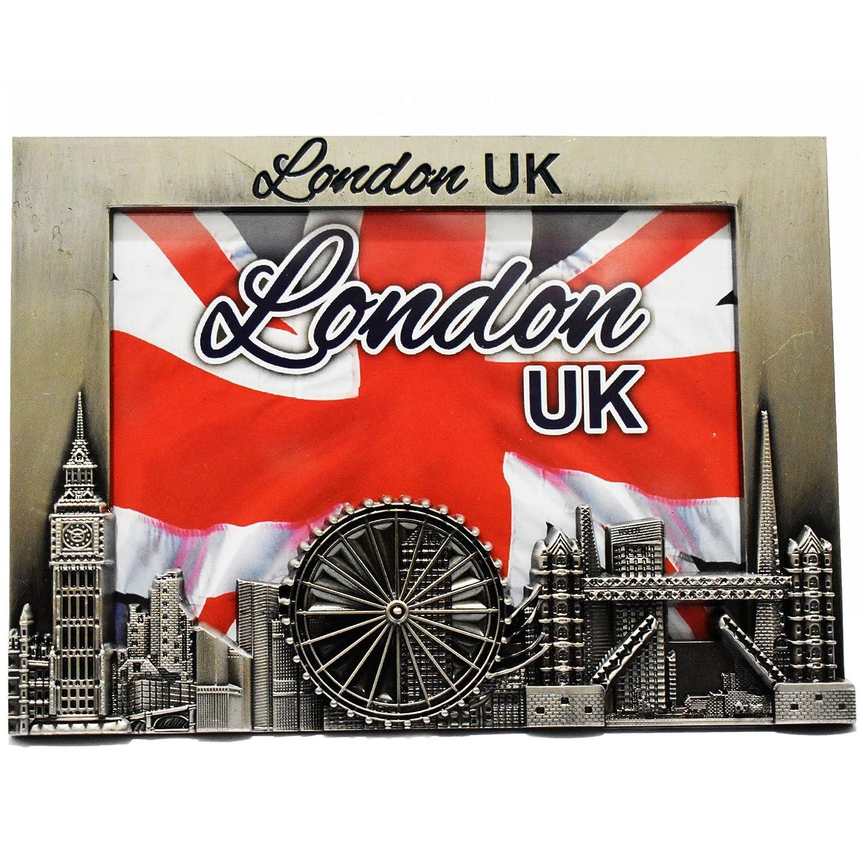 Amazon.de: Metall-Bilderrahmen - London UK Souvenir Bilderrahmen ...