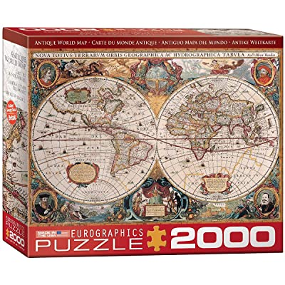 EuroGraphics Antique Map of The World Jigsaw Puzzle (2000-Piece): Toys & Games