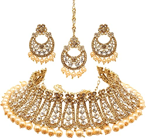 Amazon Com Bindhani Women S Indian Jewelry Heavy Look Bridal