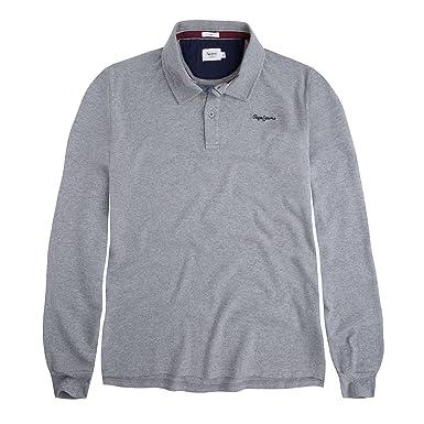 Pepe Jeans Pan Polo ML Homme Gris  Amazon.fr  Vêtements et accessoires 8b9ef321fa6e
