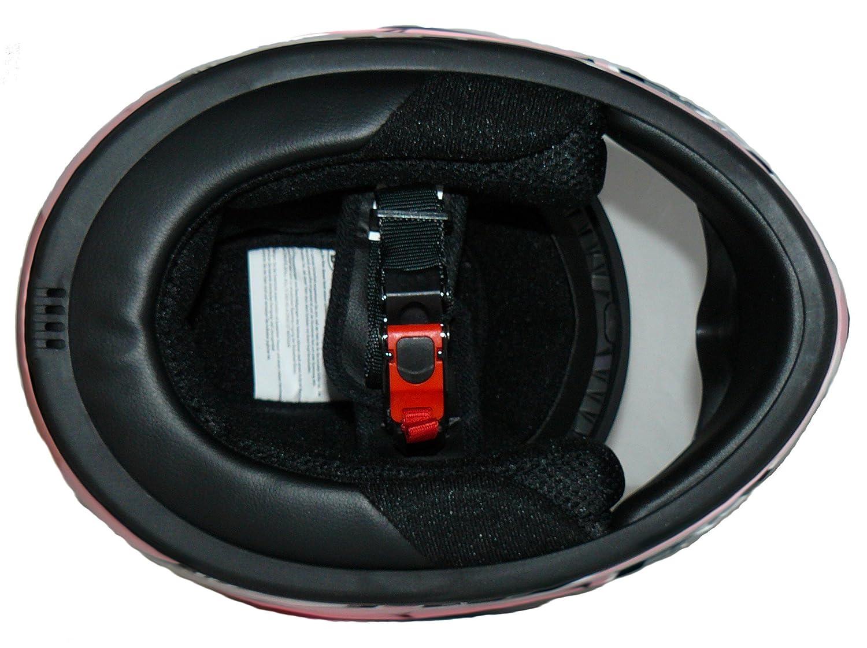 Protectwear Casque moto pour enfant SA03-RT 49 cm rouge//argent/é Taille: 3XS // Youth S