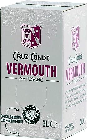 Vermouth Rojo Artesano Cruz Conde 15º Box 3 Litros
