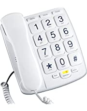 corded telephones amazon office electronics telephones Telephone Wiring Order emerson em300wh big button phone for elderly seniors improved version with longer wire landline