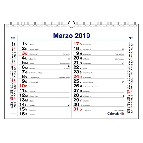 Calendario Pulizie.Calendario 2019 Olandese Da Muro 3 Mesi Orizzontale