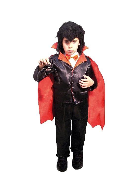 EL CARNAVAL Disfraz Vampiro Infantil Talla de 6 a 8 años: Amazon ...
