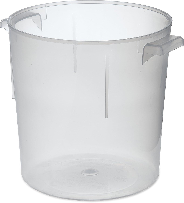 Carlisle 060530 BPA-Free Bains Marie Round Storage Container, 6 Quart, Clear