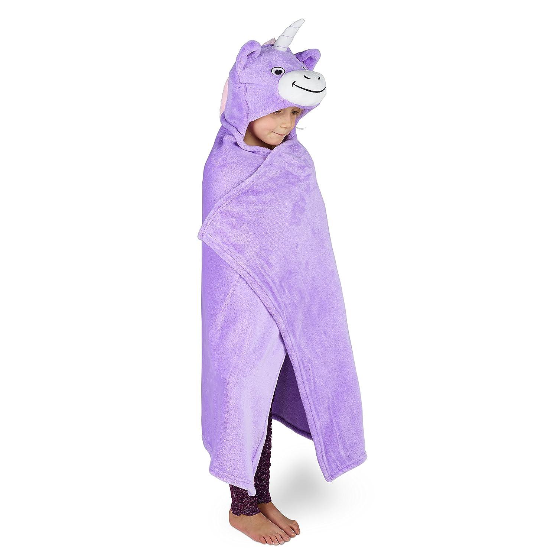ni/ños y ni/ñas Ni/ños Animal c/ómoda sudadera con capucha Kids Huggable Hooded Blanket Manta de felpa unicornio para beb/és