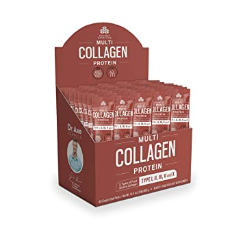 Ancient Nutrition Multi Collagen Protein Powder Stick Packs, 5 Types of  Food Sourced Collagen,