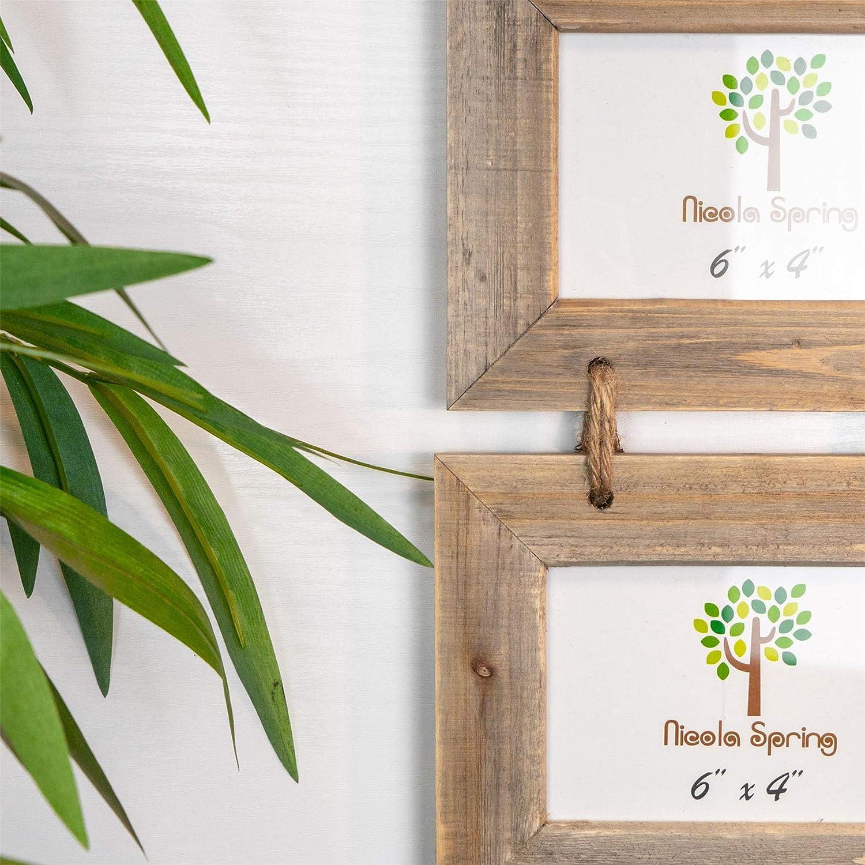 15,2 x 10,1 cm Cadre pour 3 photos /à accrocher 6 x 4 en bois