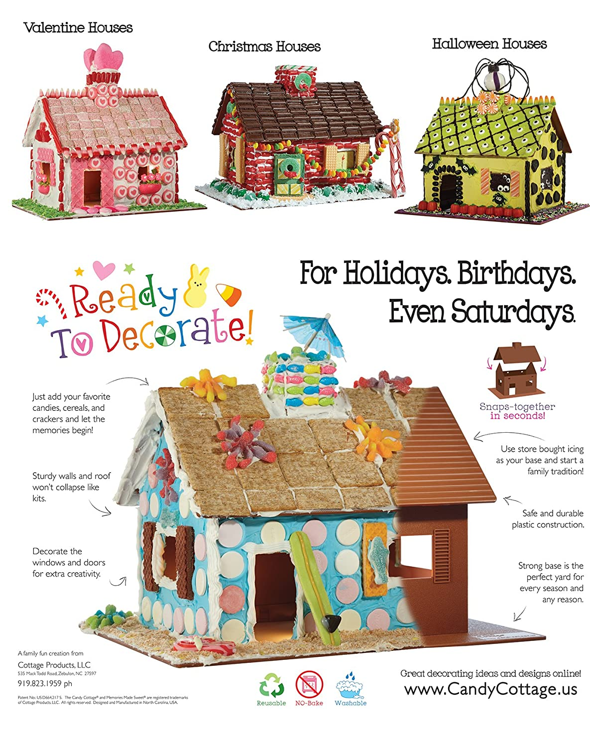 Christmas Gingerbread House Decorations.The Candy Cottage