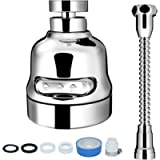 Sink Faucet Sprayer Attachment, INAYA Movable Kitchen Tap Head, 360° Rotatable Anti-Splash Faucet Nozzle Head with Hose…