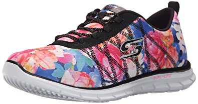 Skechers Sport Women's Posies Fashion Sneaker,Black Multi,5 ...