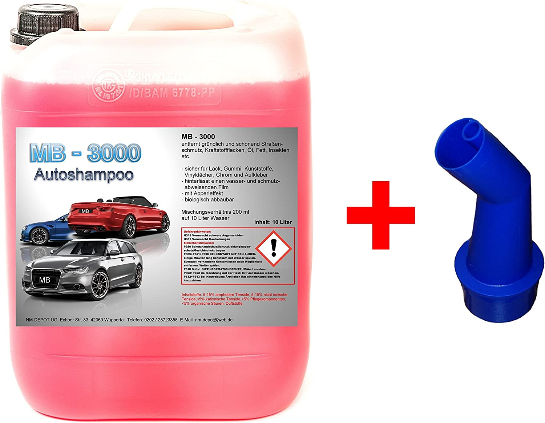 Shine 10 L Nano Autoshampoo 1 90 Ltr Carshampoo Konzentrat Glanzshampoo Autoglanz Abperleffekt Auto