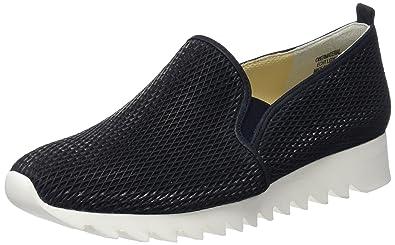Paul Green Damen Diamond Cut/Softnubuk Blau Sneaker