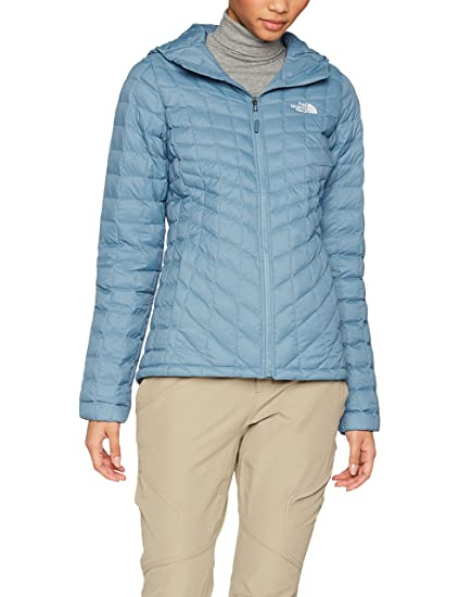 The North Face W Thermoball Hoodie Chaqueta, Mujer, Azul (Provincial Blue),