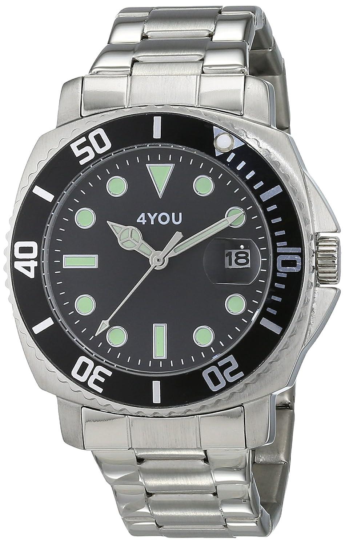 4 YOU Herren-Armbanduhr Analog Quarz Edelstahl 250006002