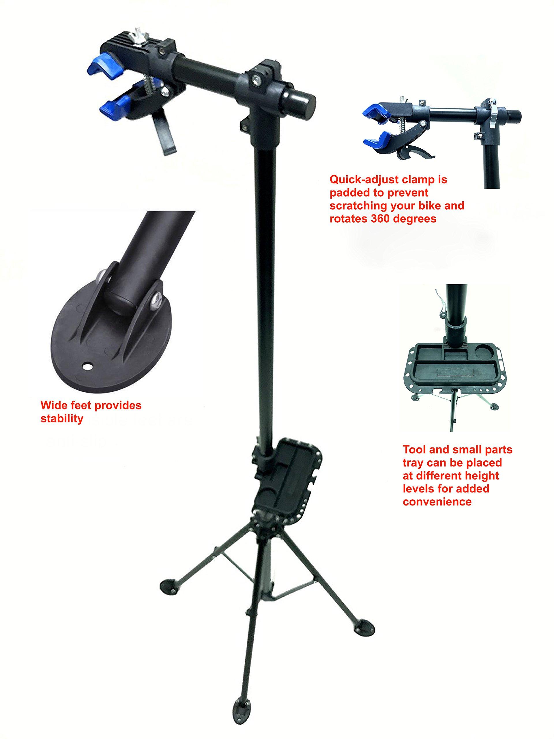MaxxHaul 80725 Bike Repair Stand/Display with Adjustable Height & 360 Deg. Rotating Head Clamp by MaxxHaul (Image #6)