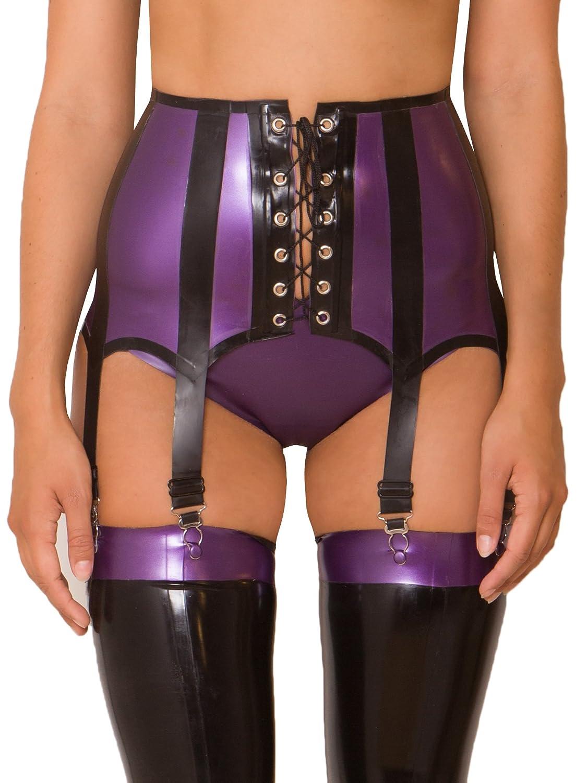 Honour Latex Seduction Girdle in Purple