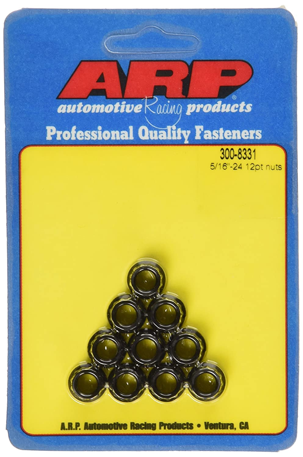 ARP 3008331 12-Point Nuts 8740 Chrome Moly with 5/16 - 24 Thread Size, Pack of 10
