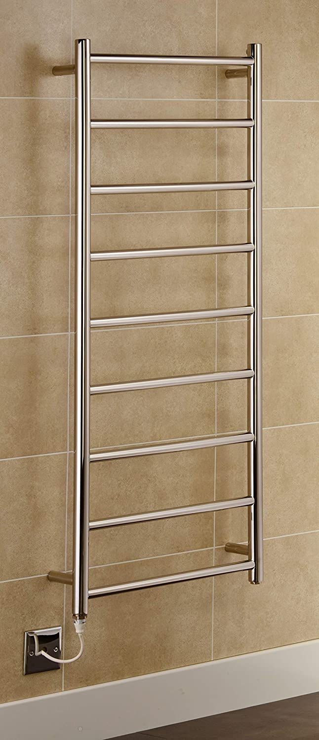 Greenedhouse Davos Electric Stainless Steel Towel Rail 500x800mm Towel Warmer Mirror Polished Finish