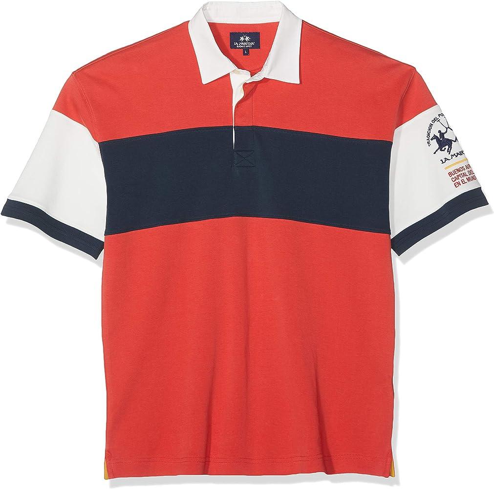 La Martina Man Polo Short Sleeve Jersey Interlock, Rojo (High Risk ...