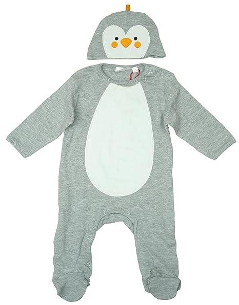 Niños Niñas Bebés Muñeco de nieve Pingüino Enterizo & Gorro Navidad ...