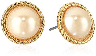 "eeca9f3f3746f8 Image Unavailable. Image not available for. Color: kate spade new york  ""Seaport"" Simulated-Pearl Stud Earrings"