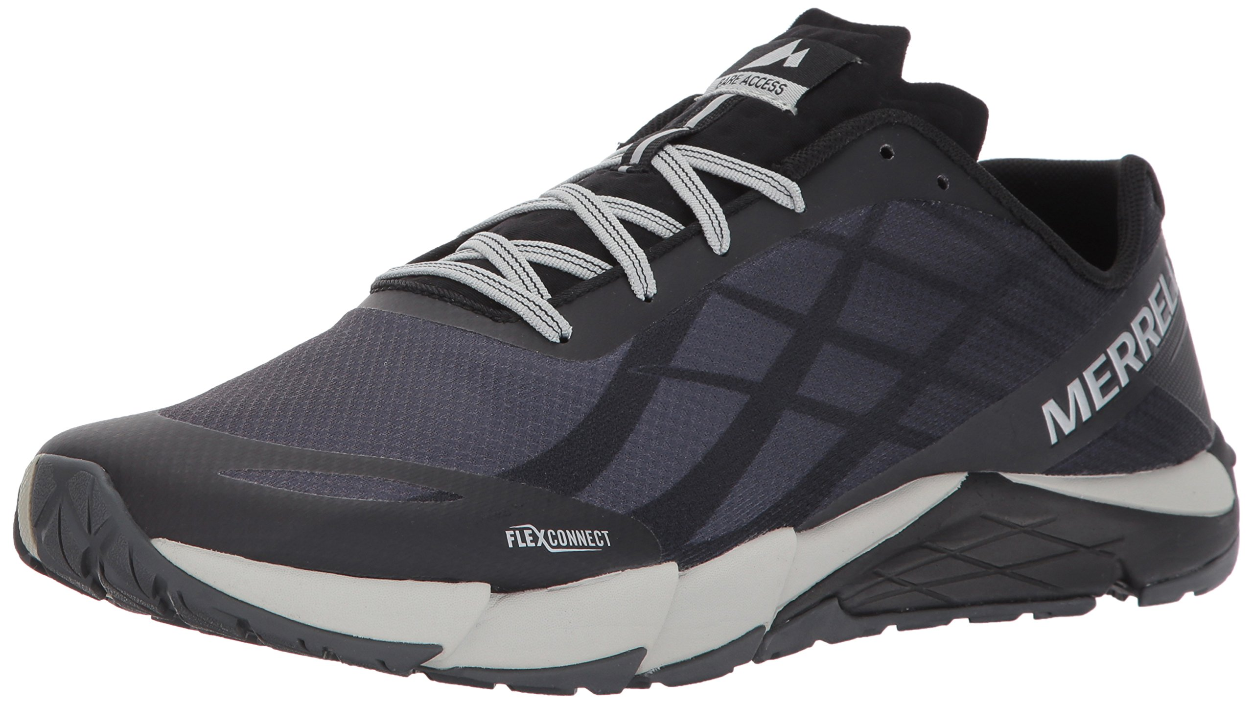 Merrell Men's Bare Access Flex Trail Runner, Black/Silver, 11 M US